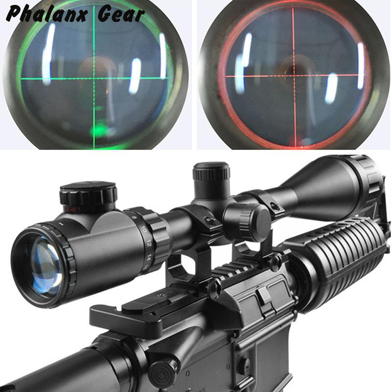 6-24x50 Illuminated Reticle Tactical Green And Red Optic With One Dust Cover For Riflescopes Hunting Optics