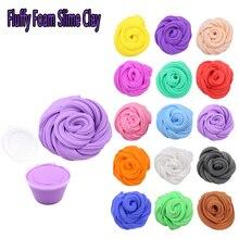 16 Color Fluffy Foam Slime Clay Ball Toy 3D DIY Soft Cotton Kit Jouet Children Magic Intelligent Plasticine Toys