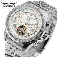 JARGAR Men 's Watch Fashion Brass Band Classic Autoamtic Tourbillion Dress Wristwatch Color Black JAG070M4
