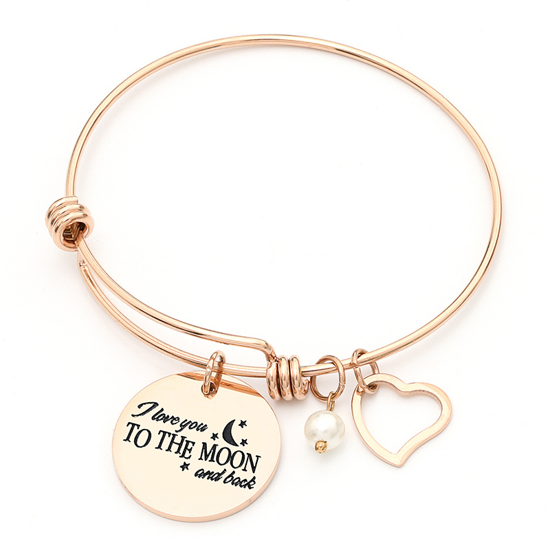 2018 Fashion Jewelry Silver/Rose Gold Adjustable Expandable Wire Bangles Bracelets Stainless Steel Love Bangle Jewlery