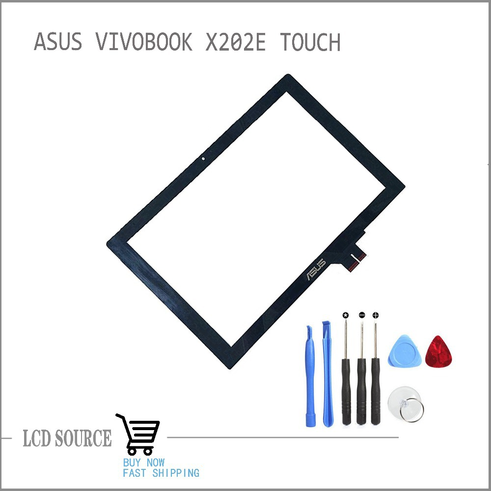 OEM Touch Screen 11.6 For ASUS Vivobook X202E Q200E Touch Digitizer For ASUS Vivobook Capacitive Screen Tablet PC Replacement