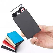 Anti Rfid Blocking Card Holder Aluminium Alloy id card holder Automatic pop-up Case Metal Credit