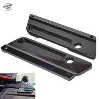 Black Motorcycle Hard Saddlebag Latch Covers Case for Harley Touring Street Glide Electra Glide