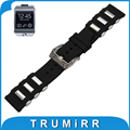 22mm caucho de silicona watch band para samsung gear 2 r380 neo r381 vivo r382 tallada inoxidable pre-v hebilla de correa para la muñeca pulsera