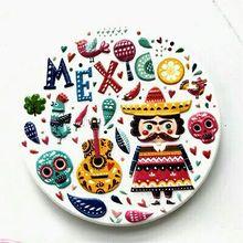 Mexico souvenir refrigerator stickers