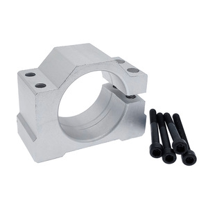 Spindle motor mount bracket spindle fixture for ER11 300W 400W 500W cast aluminum bracket with screws 52mm(China)