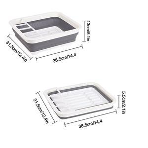 Image 5 - Faltbare Dish Rack Küche Lagerung Abtropffläche Schüssel Küche Veranstalter Geschirr Organizador Geschirr Waschbecken Rack Rangement