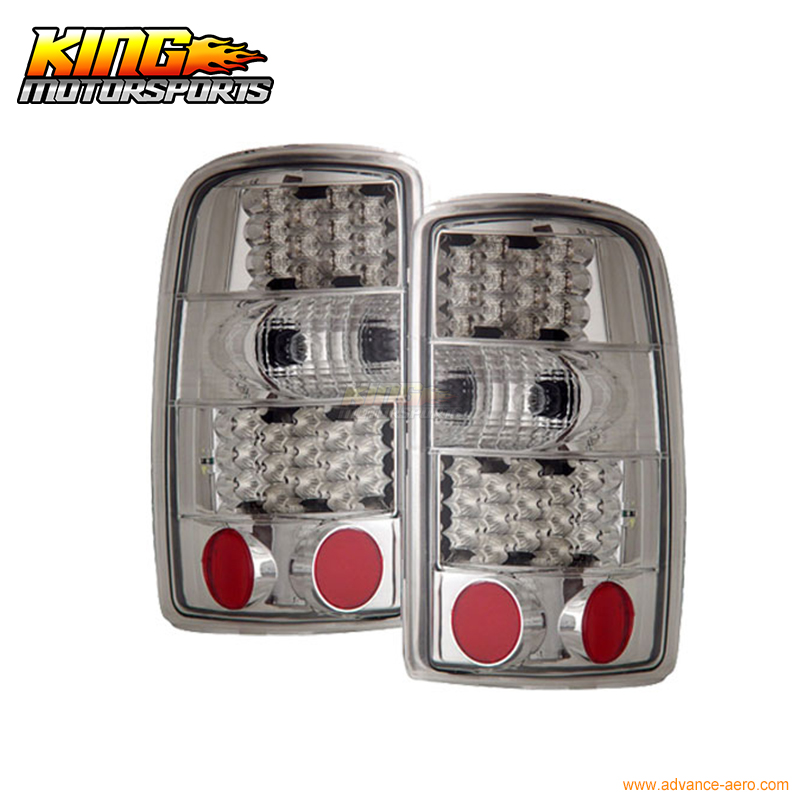 For 2000-2006 Chevy Tahoe Suburban Denali LED Tail Lights Chr USA Domestic Free Shipping