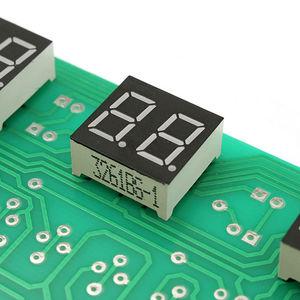 Image 2 - 5V 12V AT89C2051 çok fonksiyonlu altı dijital LED DIY elektronik saat kiti SH E 878