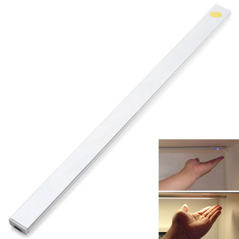 YK2260 30cm Under Cabinet LED Light Bar Touch Design USB Charging Interface for Kitchen Counter Lighting
