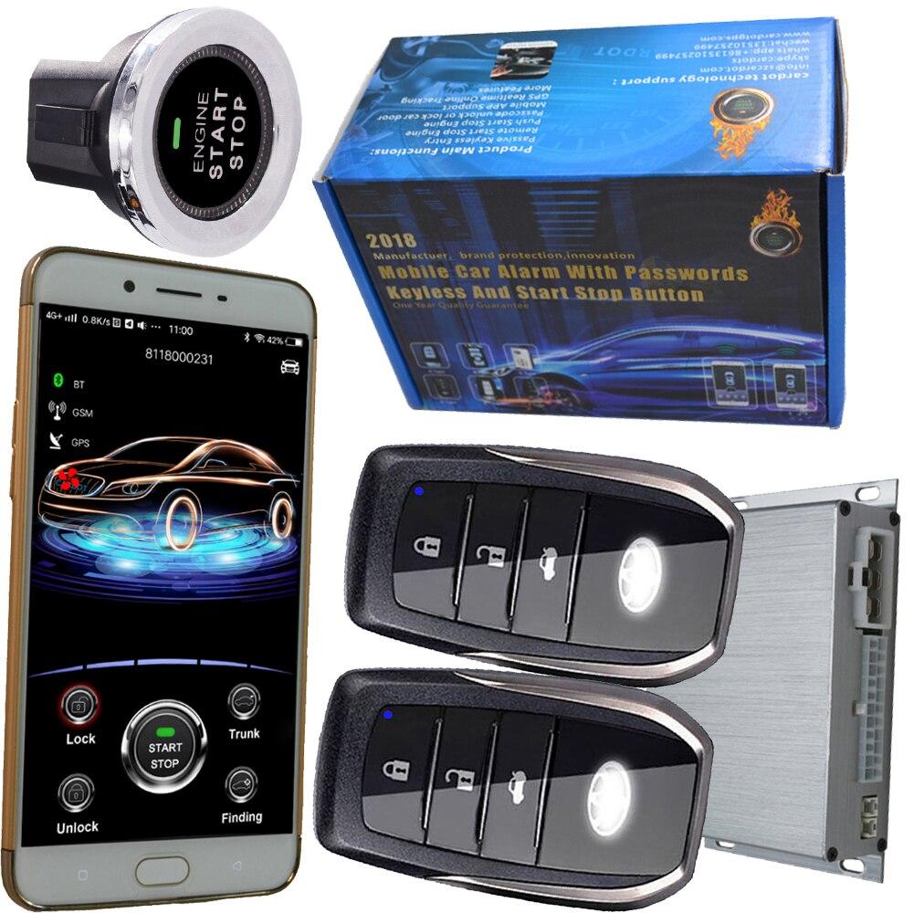 Кардо авто мобильный автосигнализации электронная сигнализация безопасности центральный замок, поддерживающие ISO или andriod смартфон слежен
