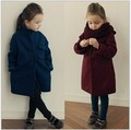 Brand Children Outerwear Fashion Casual Cashmere Coats Baby Girls Winter Wool Coat Kids Clothes For 3-14 Years Old 2 Colors