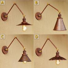 Edison Loft Phong Cách Retro Vintage Đèn Tường Wandlamp Đu Tường Cánh Tay Dài Thiết Bị Chiếu sáng Công Nghiệp Tường Đèn Treo Tường Đính LED