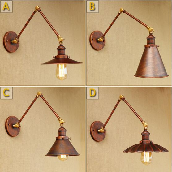 Edison Loft Style Retro Vintage Wall Lamp Wandlamp Swing Long Arm Wall light Fixtures Industrial Wall Sconce Applique LED glass wooden arm retro vintage wall lamp led edison style loft industrial wall light sconce home lighting appliques pared