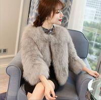 2017 hot sale fox wool fur wool Large size women coat feather fur women jacket womens winter jackets and coats