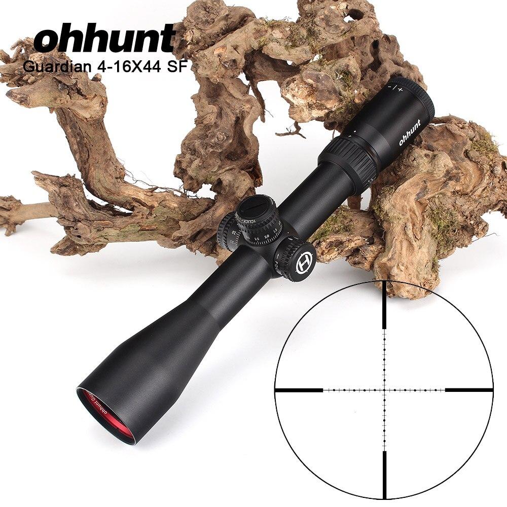 Ohhunt Guardiano 4-16X44 SF Tactical Sniper Ottica Attrazioni 1/2 Mezza Mil Dot Side Parallax Riflescope di Caccia per le Riprese del Fucile
