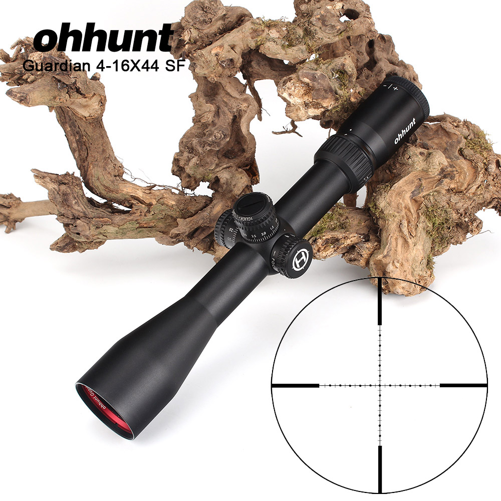 ohhunt Guardian 4-16X44 SF Tactical Sniper Optical Sights 1/2 Half Mil Dot Side Parallax Hunting Riflescope for Shooting Rifle