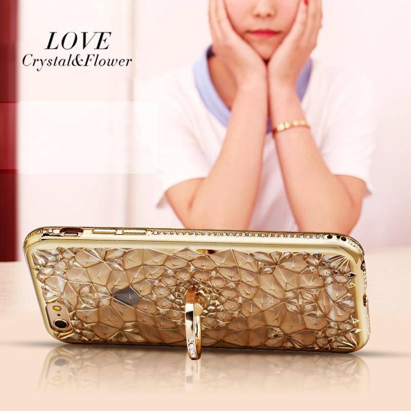 För iPhone 6S Fodral Glitter Crystal Rhinestone Bling Väska för - Reservdelar och tillbehör för mobiltelefoner - Foto 3