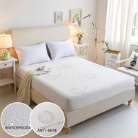Organic Cotton Jacquard Anti mite Protector Cover Bed Mattress for Bed Hotel Wetting Protection Waterproof Mattress