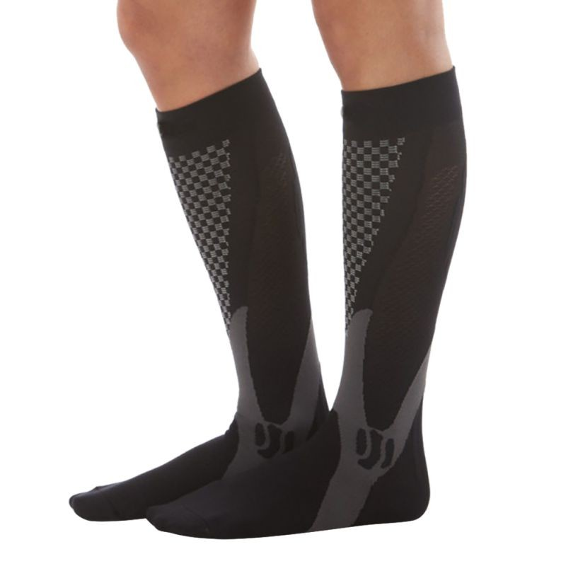 HTB1z6 UXSSD3KVjSZFKq6z10VXa3 - Men Women Leg Support Stretch Compression Socks Below Knee Socks