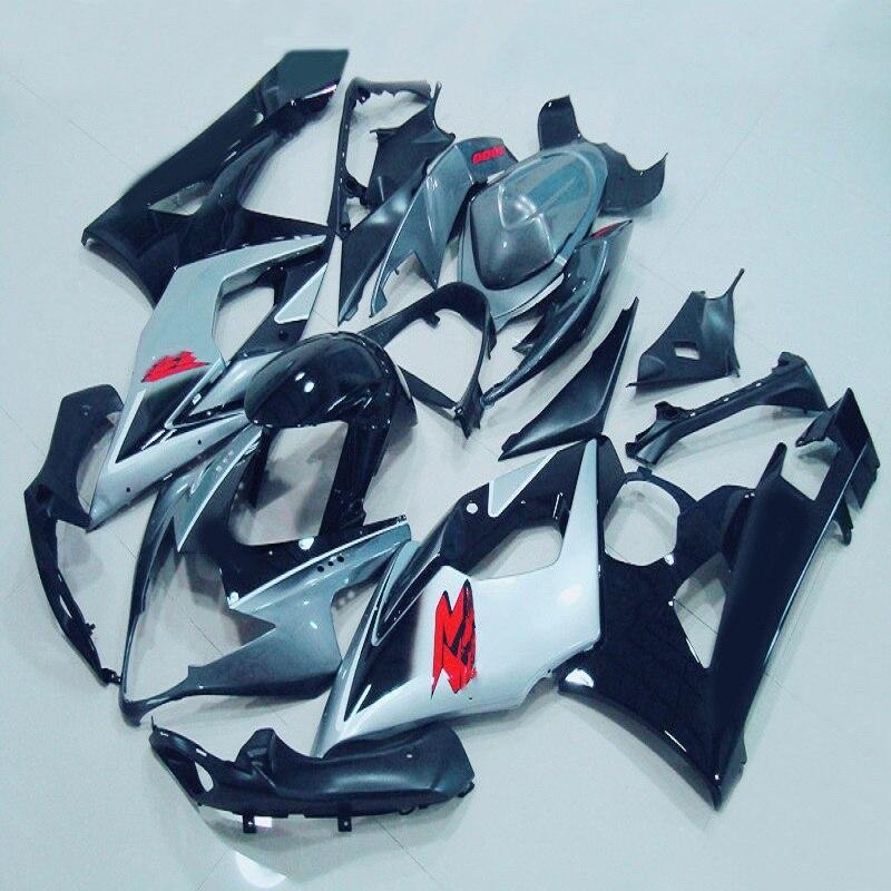 F ABS silver black Fairing Kit for GSXR1000 2005 2006 GSX R1000 GSXR1000 K5 05 06