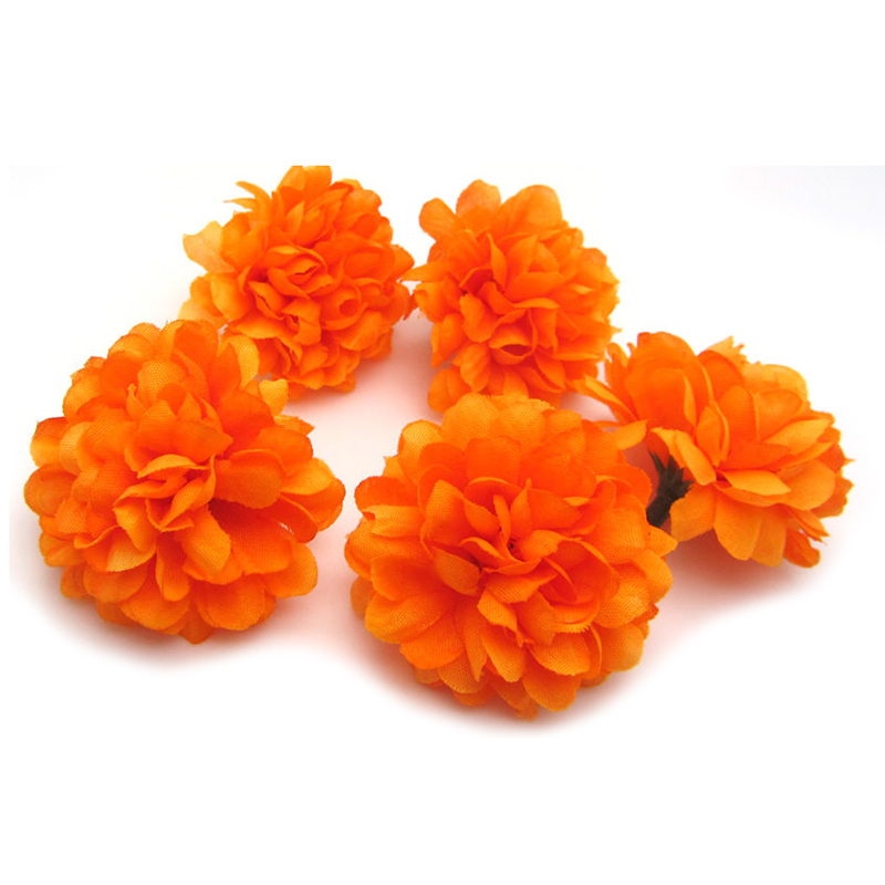 Hot 30pcs Daisy Artificial Fake flower Silk Spherical Heads Bulk Wedding Decor