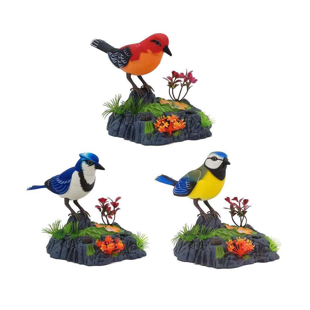 Singing Chirping Birds Toy Voice Control Realistic Sounds Movements Kids Electronic Pet Toys Movements Kids