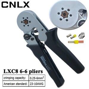 Image 4 - LXC8 6 6R العقص كماشة الإلكترونية أنبوبي محطة صندوق صغير العلامة التجارية كماشة أداة LXC8 0.25 6mm2 23 10AWG الكربون الصلب الكهربائية