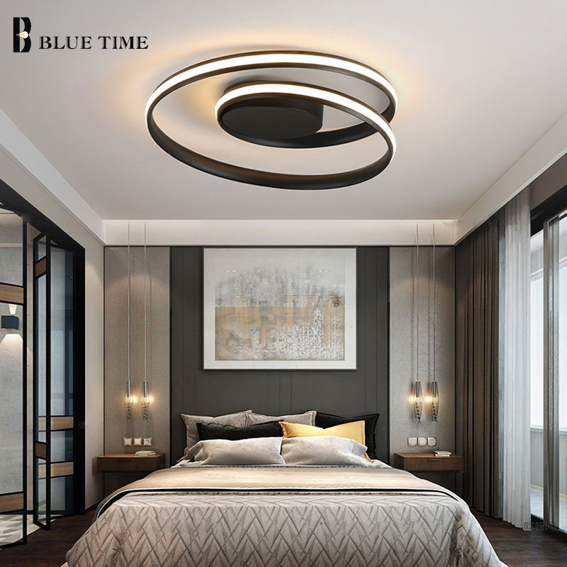 White&Black Frame Modern Led Chandeliers Lighting For Dining Room Living Room Modern Ceiling Chandelier Indoor Lighting Fixtures-in Chandeliers from Lights & Lighting    3