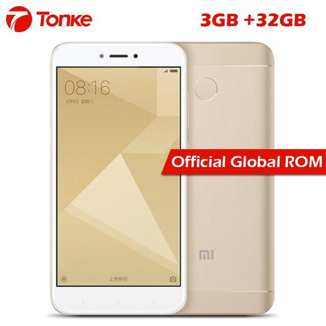 """Оригинальный Xiaomi Redmi 4x3 GB RAM 32 GB ROM 4100 мАч Восьмиядерный Snapdragon 435 с идентификацией по отпечатку пальца FDD LTE 4 г 5 """"MIUI 8 мобильный телефон"""