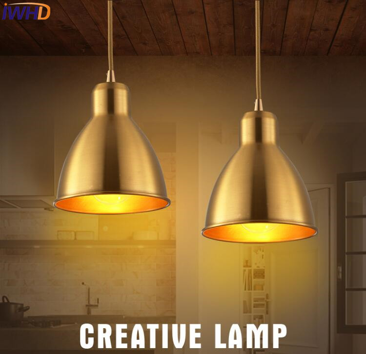 American Style Loft Industrial Lamp Vintage Pendant Light Copper Retro Pendant Lights Simple Antique Bedroom Bar HangLamp retro industrial style pot lid shape lustres loft heavy pendant lamp antique cord pendant light for bar bedroom study