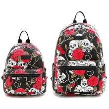 Women Laptop Backpack for Teenage Girls School Bagpack Mini Backpack Bag Rose Flower Large Capacity Female Backpacks Student