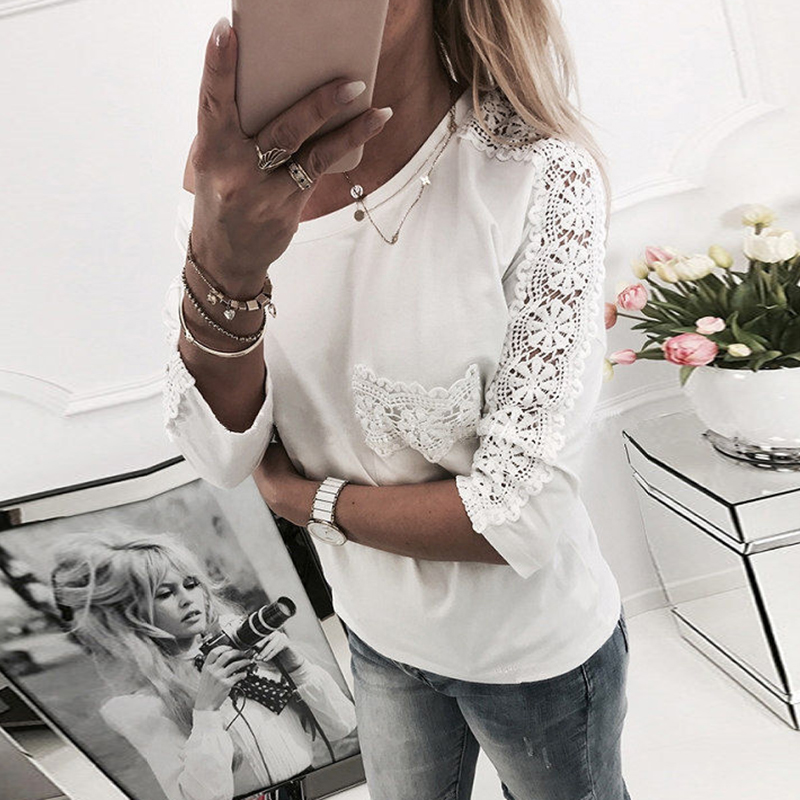 Women   Blouses     Shirts   Women Fashion Lace   Shirt   Sexy Half Sleeve Women   Blouse   Blusas Tops WS4831M