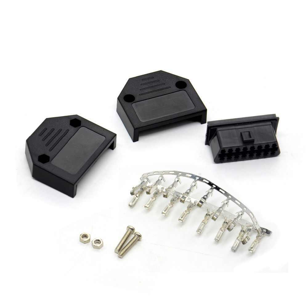 ODB2 OBDII EOBD JOBD ODB ODBII OBD2 EOBD2 OBD11 J1962 Conector Macho Plug Adapter ODB11 WiringOBD2 16Pin Conector Frete Grátis