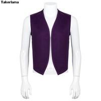 Takerlama Aladdin Magic Lamp Prince Aladdin Costumes Vest Daystar Apron Unisex No Pocket Uniform Vest Aladdin