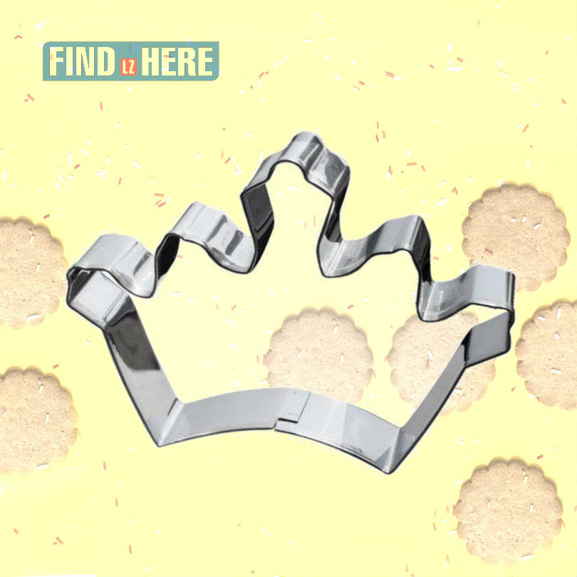 Cookie Mold Stainless Steel Baking Tools King Crown Shape DIY Baking Biscuit Cookie Cutter Mould Bakeware *NF
