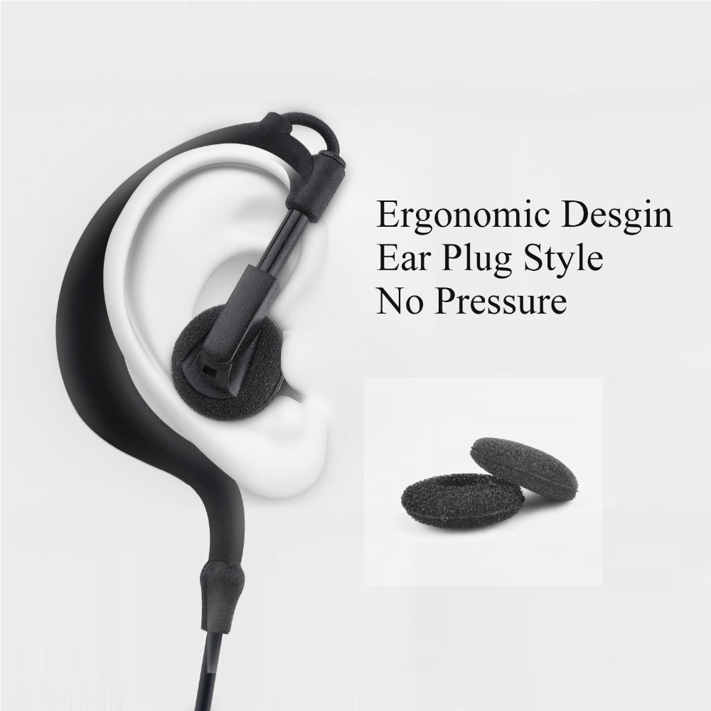 Image 5 - earpiece for Walkie Talkie Earpiece Security Headset Acoustic Tube Earphone Mic PTT Surveillance 1 PIN 2.5mm R40 Two Way Radio-in Walkie Talkie Parts & Accessories from Cellphones & Telecommunications