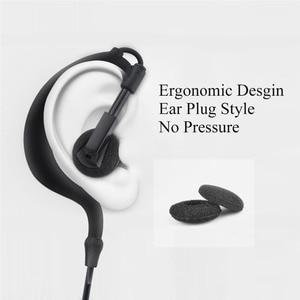 Image 5 - earpiece for Walkie Talkie Earpiece Security Headset Acoustic Tube Earphone Mic PTT Surveillance 1 PIN 2.5mm R40 Two Way Radio