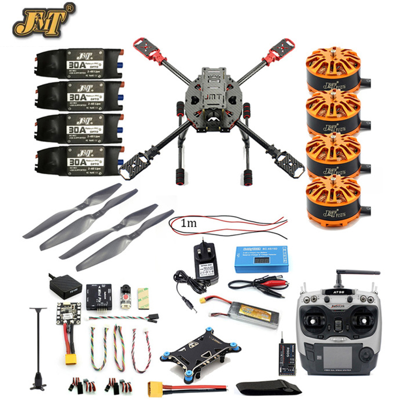 JMT Full Set DIY 2.4GHz 4-Aixs Quadcopter RC Drone 630mm Frame Kit MINI PIX+GPS AT9S TX RX Brushless Motor ESC Altitude Hold diy fpv mini drone qav210 quadcopter frame kit pure carbon frame cobra 2204 2300kv motor cobra 12a esc cc3d naze32 10dof