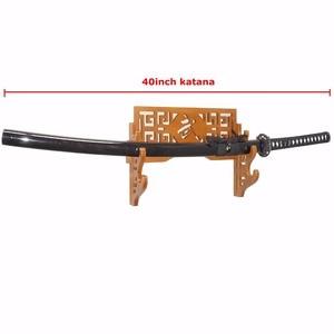 Image 5 - 3 Layer Sword Holder Wall Mount Bamboo Samurai Sword Rack Hanger Katana Wakizashi Tanto Genji Stand   Bushido
