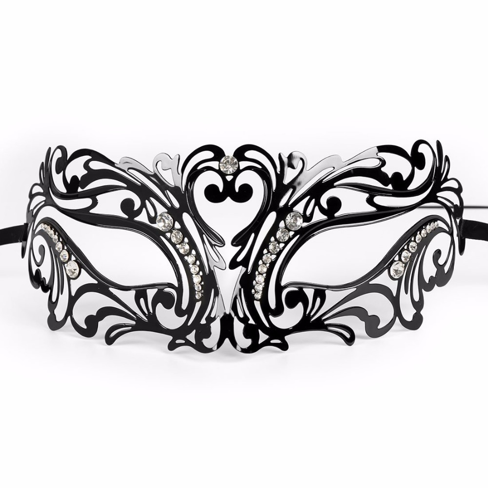 HLC Luxury Black Elegant Metal Halloween Ball Party Fancy Dress Masquerade  Mask-in Party Masks from Home   Garden on Aliexpress.com  68003cd6a1bd