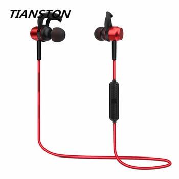 TIANSTON Bilateral Stereo Wireless Headphones Ear Hook Sport Bluetooth 4.1 Earphone with Mic Headset For phone Ipod