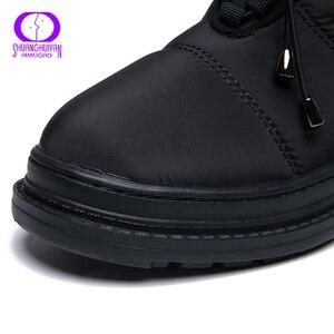 Image 4 - Aimeigao 고품질 따뜻한 모피 눈 겨울 여성 부츠 플러시 깔창 방수 부츠 플랫폼 발 뒤꿈치 레드 블랙 여성 신발