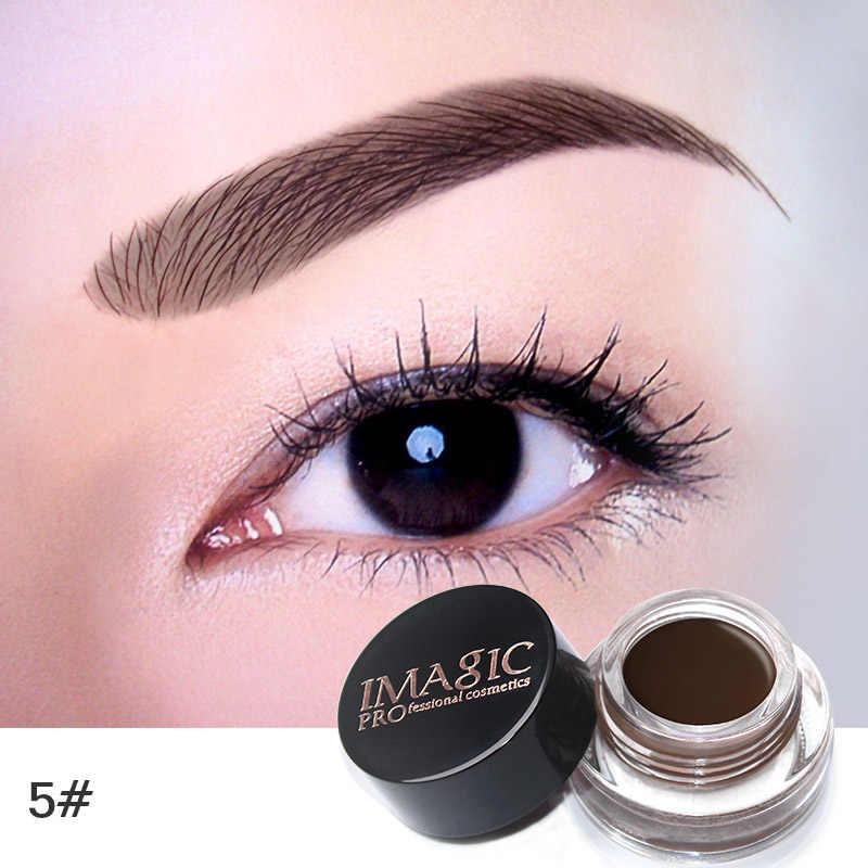 IMAGIC помада-гель для бровей, 6 цветов, водостойкая, для бровей, макияж, тату, ТИНТ, стойкий, для увеличения бровей, тушь для ресниц с кистью для макияжа