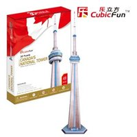 CubicFun 3D puzzle paper model children gift DIY toy Canada's national tower MC109h Canada famous world's great architecture 1pc
