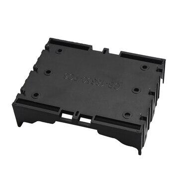 50 ADET 1x2x3x4x18650 Siyah Plastik Pil Kutusu DIY Serisi Depolama Tutucu Bronz Pimleri Pil Için Şarj Edilebilir AA