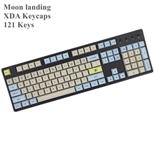 Moon landing profile XDA keycap 121 Keys dye sublimated For MX switches mechanical keyboard keycaps new arrival ajazz ak33 abs side carving white gray black keycaps 82 keys for mechanical gaming keyboard switches