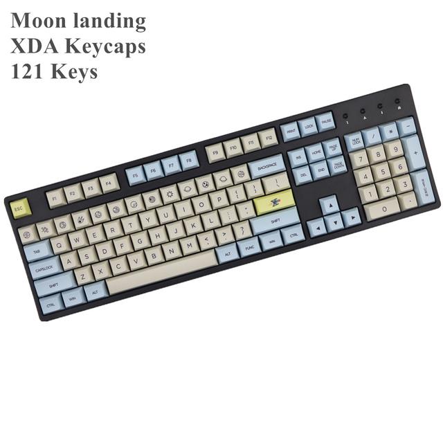 Moon landing profile XDA keycap 121 Keys dye sublimated For MX switches mechanical keyboard keycaps