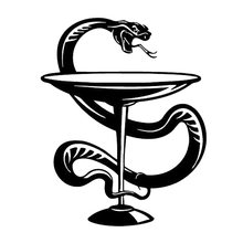 13.7cm*17.2cm Medicine Symbol Snake Car Sticker Motorcycle Vinyl Decal Black/Silver S3-6379(China)