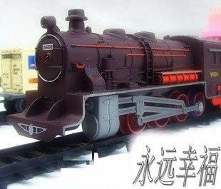 Frete grátis! trem a vapor longo 9.4 metros de trem trilha trens de brinquedo elétrico para crianças caminhão para meninos ferroviário presente aniversário